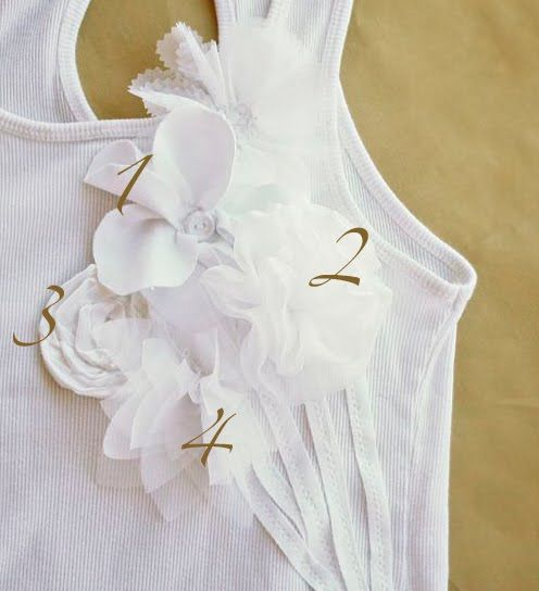 What a quick and easy way to decorate a simple tank top