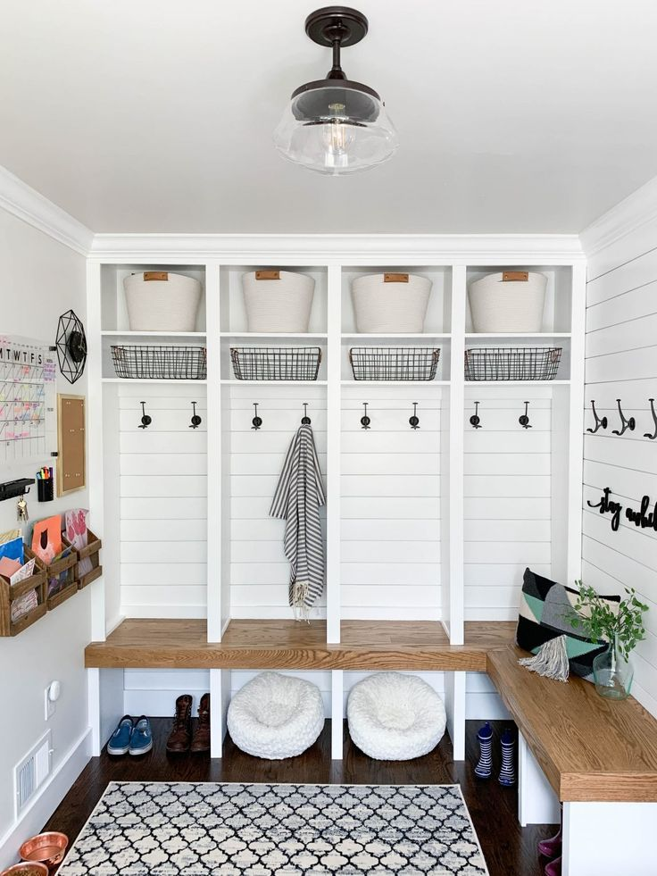 Modern Farmhouse Entryway Final Reveal Mudroom Laundry Room Diy