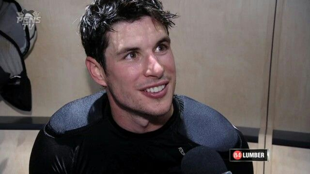 Sidney Crosby :) I smile whenever I see him … literally … I'm GRINNING :D:D:D