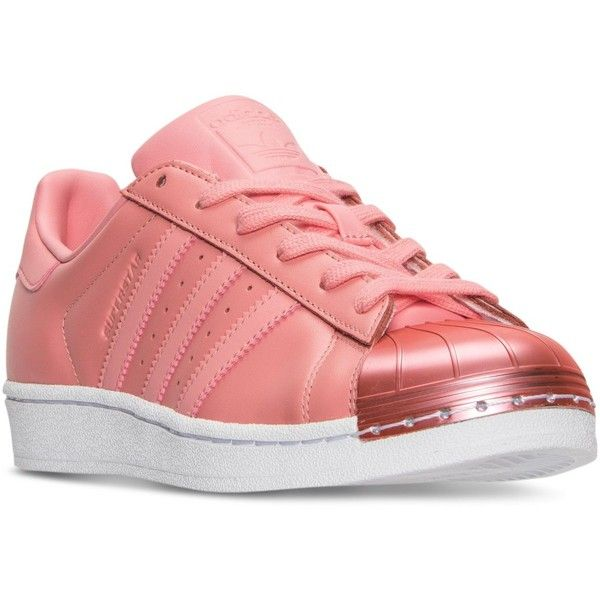 adidas Women's Superstar Metal Toe Casual Sneakers from Finish Line ($100) ❤ liked on Polyvore featuring shoes, sneakers, retro sneakers, adidas trainers, low top, low profile shoes and adidas sneakers