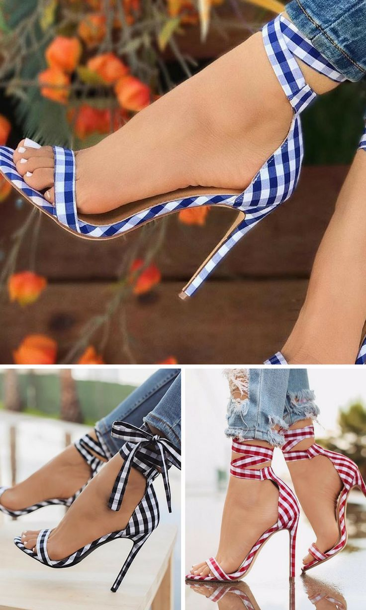 Show off that sexy pedicure in a hot pair of summer high heels shoes! Cute  Single Strap Peep-toe Lace Up Summer Sandals. NNT  shoes  ad  shoesaddict  ... 5ebe19a2a372