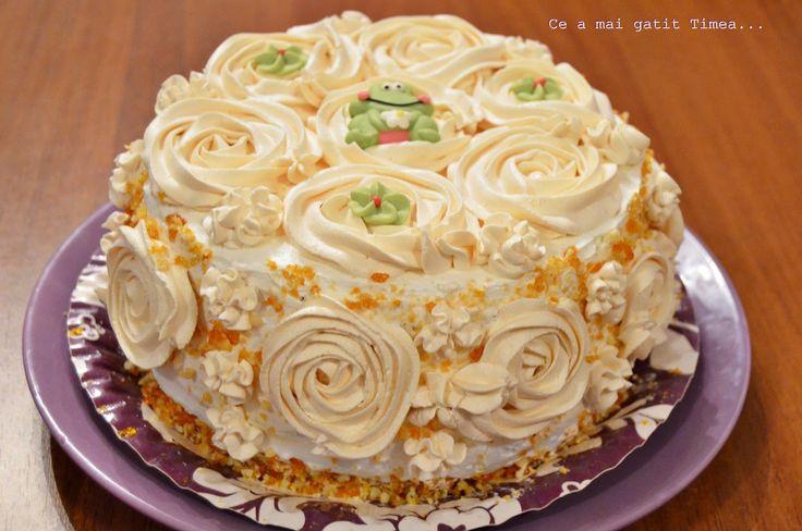 Ce a mai gatit Timea...: Tort cu frisca si caramel 2
