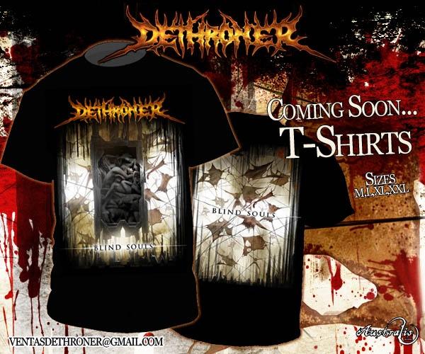 dethroner promo t-shirts