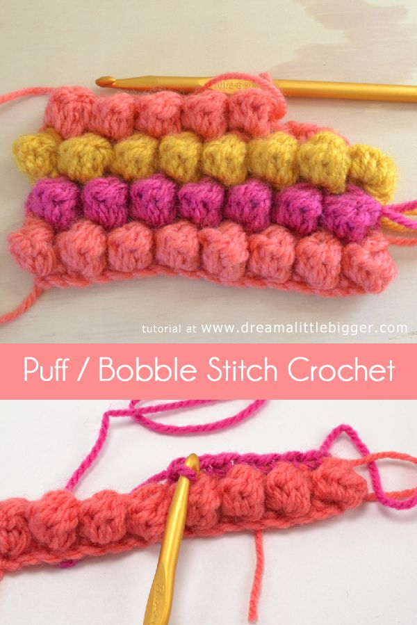 How To – Bobble Stitch... Just tried it and it's actually really simple and looks super cute!
