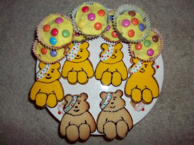 : Children In Need Baking - Pudsey Bear Biscuits