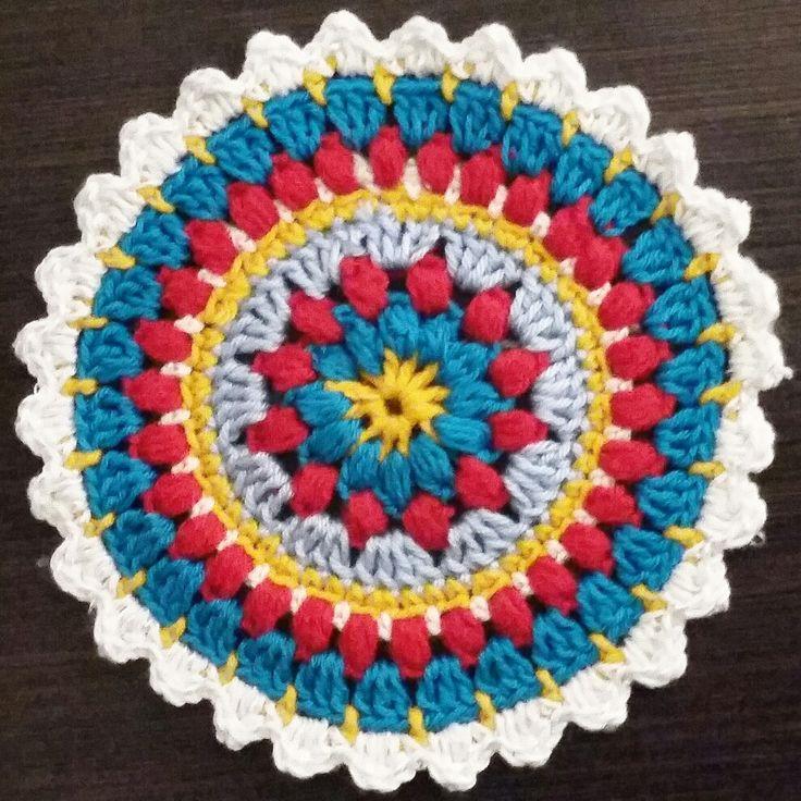 Crochet mandala.