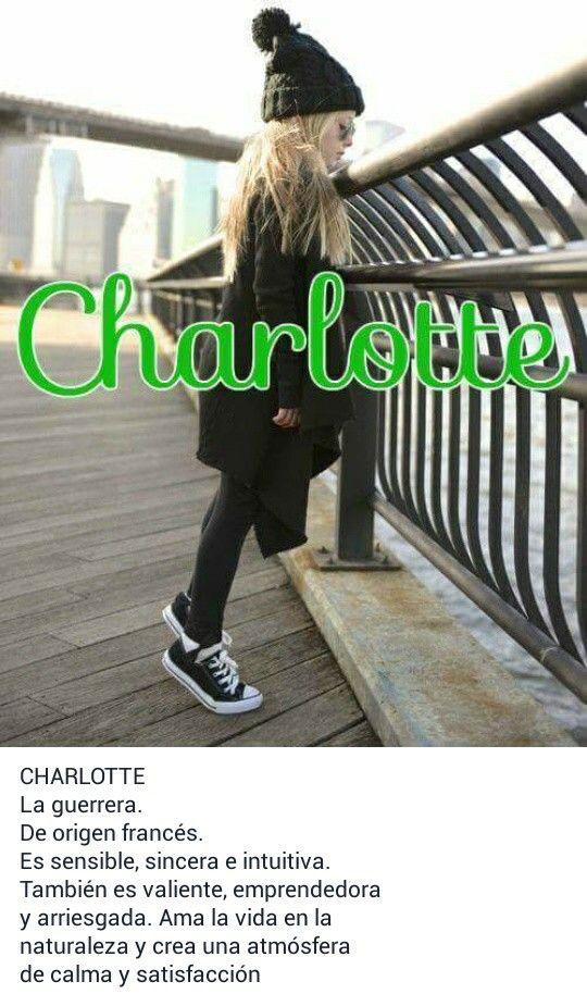Nombres para niñas, Significado de CHARLOTTE