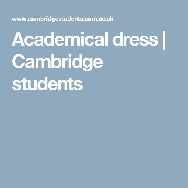 Academical dress | Cambridge students