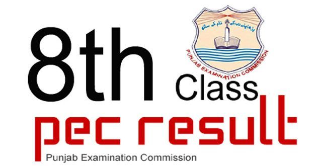 PEC 8th Class Results 2018 announced All Punjab Districts