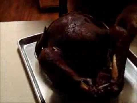 "Smoked turkey in the Masterbuilt 40"" electric smoker - YouTube"