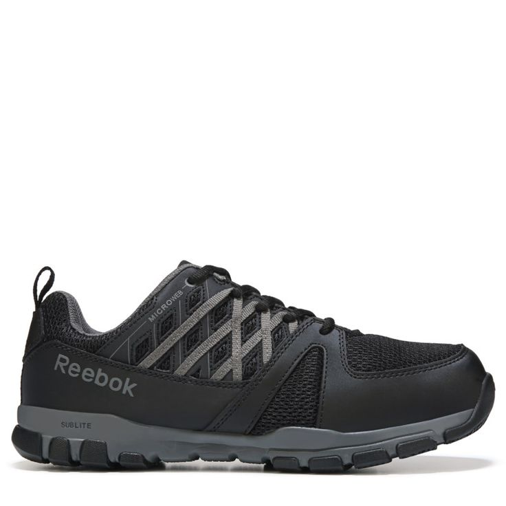 Reebok Work Men's Sublite Work Medium/Wide Steel Toe Work Shoes (Black) - 13.0 M