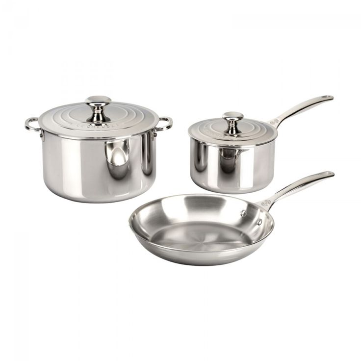 Le Creuset Stainless Steel 5-Piece Cookware Set | A premium cookware set makes a great gift for the chef in your life!