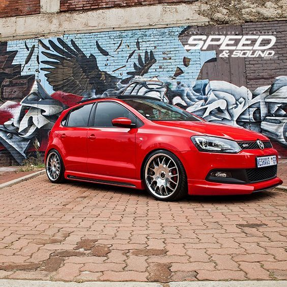 Urban Assault, VW Polo Gti JL audio with Rieger Bodykit#Fiberglass, #Resin and #CarbonFiber #BodyKits of all types at http://www.rvinyl.com/Body-Kits.html: