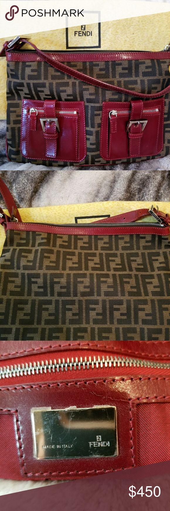 PRICE REDUCED**Fendi Zucca Logo Handbag 100% Authentic Fendi bag. Excellent condition, no visible signs of wear. Hard-to-find style. Dust cover included. Great bag! Fendi Bags