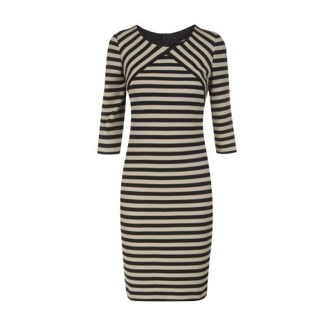 BOSS BLACK Kleid mit Dreiviertelarm in Schwarz   FASHION ID Online Shop