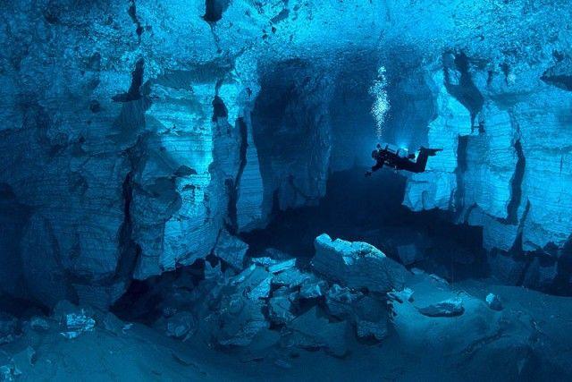 Underwater Russian Cave