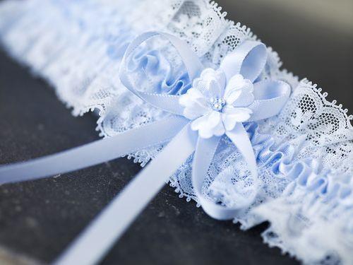 super cute lace bridal garter  #Strumpfband #blau