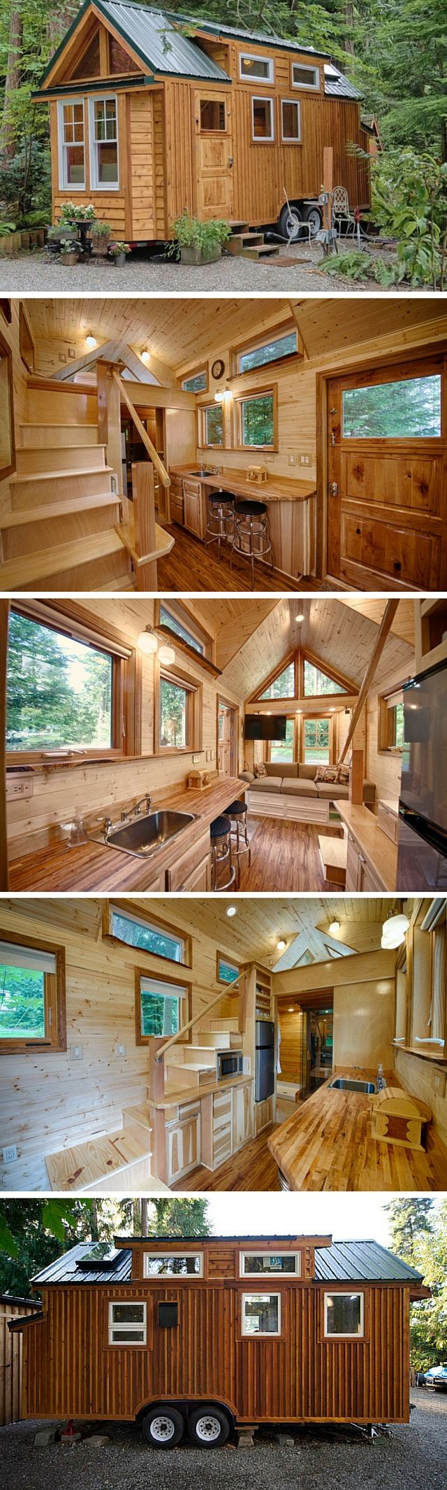 best 25 inside tiny houses ideas on pinterest mini homes park the hope island cottage a 170 sq ft tiny house on wheels there s actually