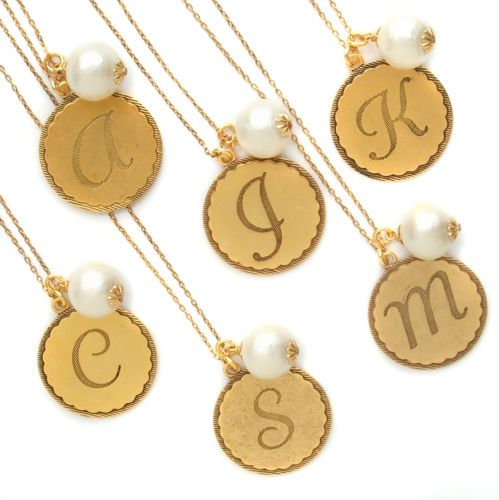 John-Wind-Jewelry-Necklace-Maximal-Art-Gold-Sorority-Gal-Initial-Pom-Pearl