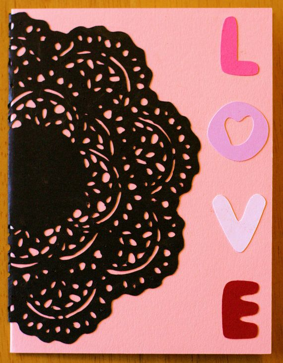 Valentine's Day Lace Card by TheLookingGlassCraft on Etsy