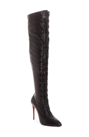 2e96332b2dc8 CHRISTIAN LOUBOUTIN FRENCH TUTU OVER THE KNEE BOOT.  christianlouboutin   shoes