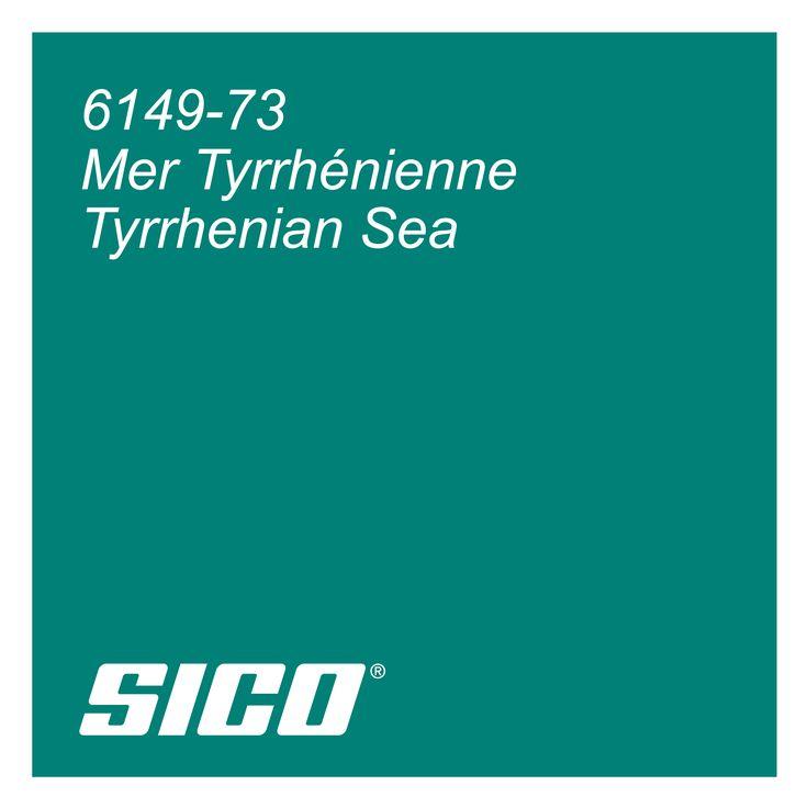 Tyrrhenian Sea paint colour by Sico Paints | Mer Tyrrhénienne, couleur de peinture Sico.