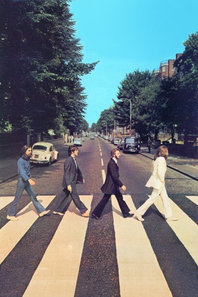 wallpaper beatles abbey road iphone4s wallpapers