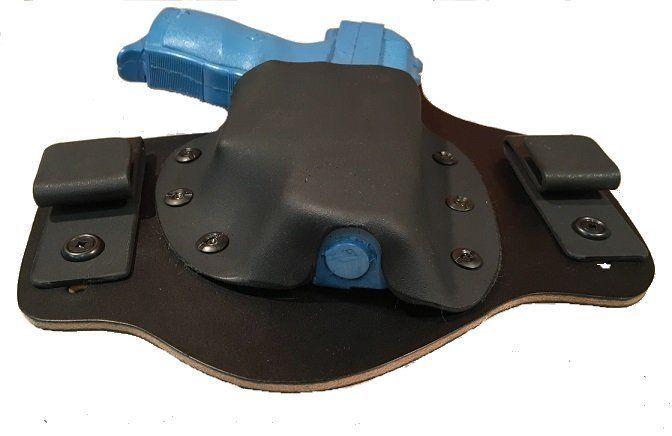 Details about Leather Kydex Holster fits HI-POINT C9 Black J-Hooks