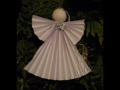 Weihnachtsengel basteln - DIY Weihnachtsdeko - Weihnachtsbasteln - Engel falten Weihnachten: 2017 - YouTube