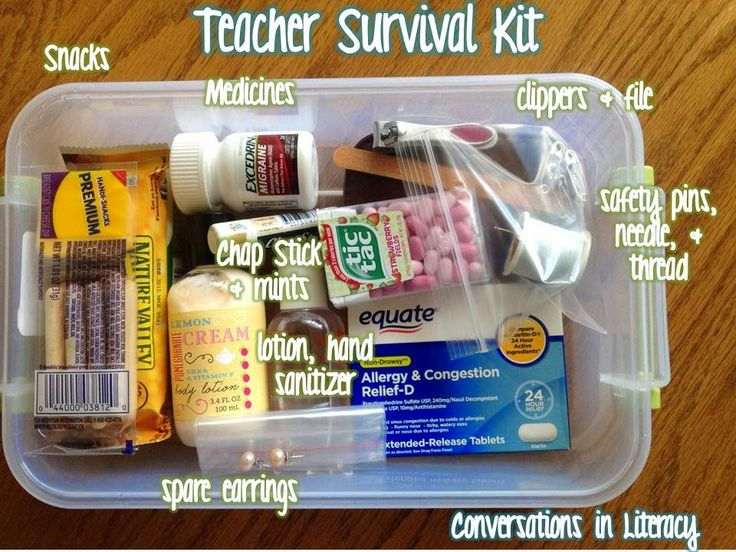 Back to School Teacher Survival Kits