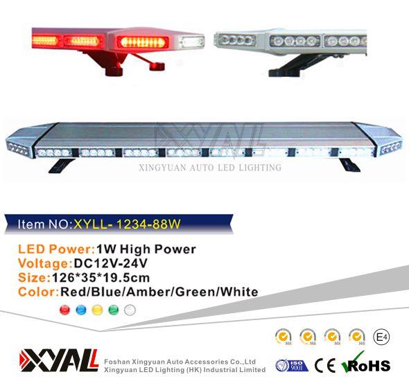 "47"" dc12v 24v car emergency light auto lighting car led bar ambulance lights led car emergency amber led light bar"