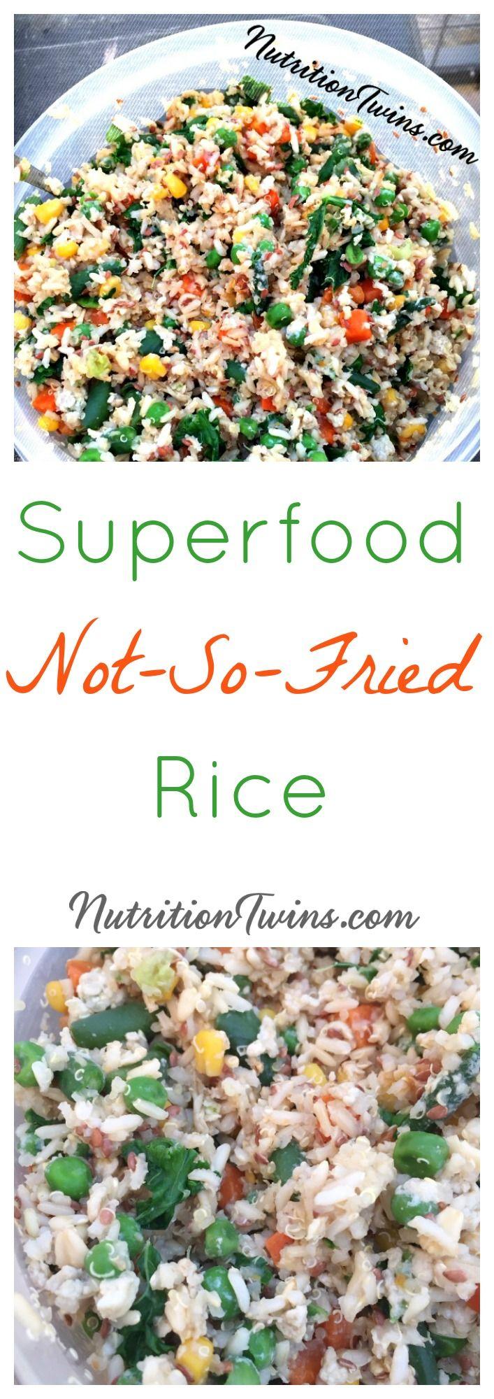 "Skinny ""Fried"" Rice - Nutrition Twins"