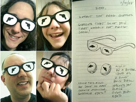 Turning ideas into reality, make your own Kermit the Frog glasses - gonna make this!