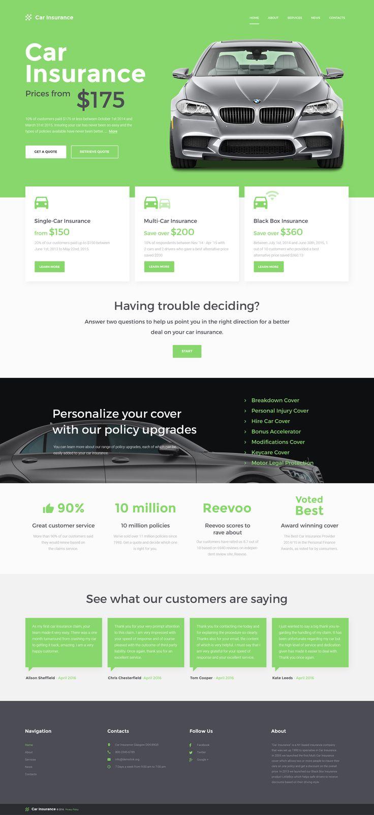 Car Insurance Responsive Website Template #57558 http://www.templatemonster.com/website-templates/car-insurance-responsive-website-template-57558.html