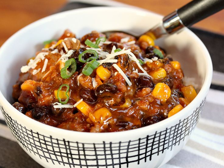 Smoky Turkey, Black Bean and Corn Chili | IN THE KITCHEN | Pinterest