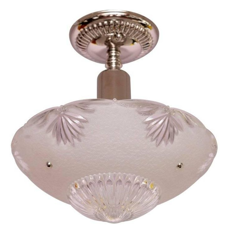 Deco Small Chandelier White Clear Cutchrystal Vintage, Restored | 1stdibs.com