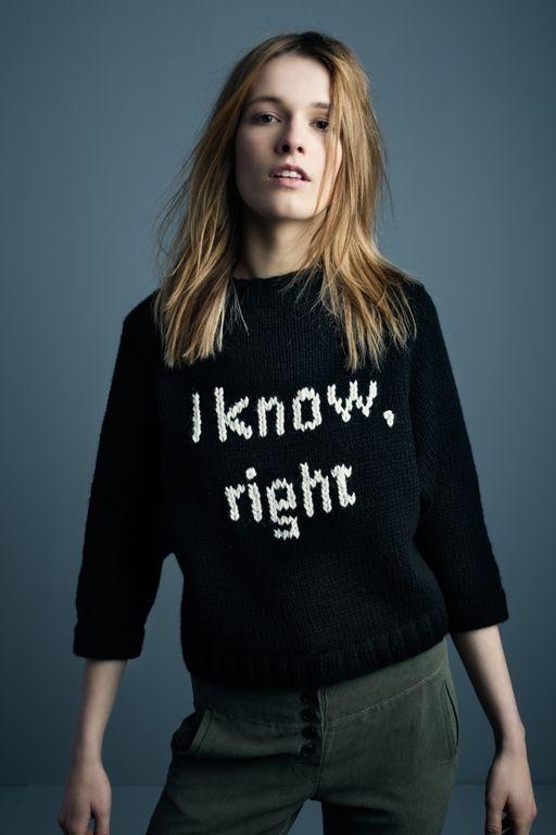 Smythe I+Know+Sweater+in+black+w/ivory