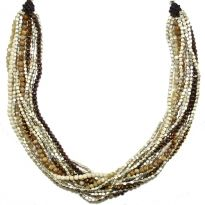 Twisted Strands Necklace Brown - Nakamol