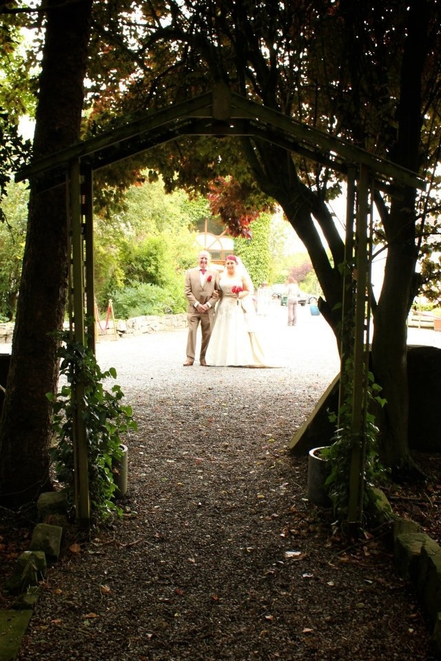 Station house kilmessan just about to walk down the aisle/ path