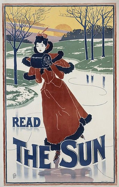 Louis John Rhead (American, born England, 1857–1926). Read / The Sun, 1895. The Metropolitan Museum of Art, New York. Leonard A. Lauder Collection of American Posters, Gift of Leonard A. Lauder, 1984 (1984.1202.143)