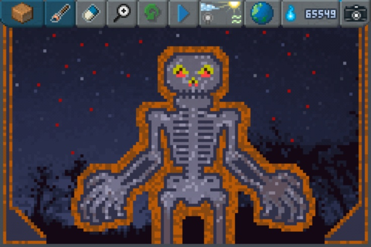 Awesome skeleton Pixel Art!