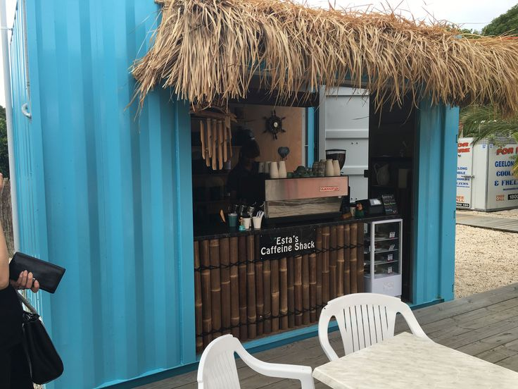 Esta Costilla needed some extra room to serve their coffee loving customers.  They converted our shipping container into a pretty cool & functional space.