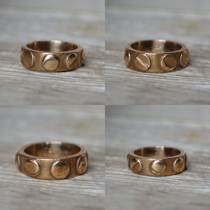 """Inspired by the night sky, continuous and unfaltering, ever-inspiring and mystifying.  'Poesy' or 'posy' rings received their name from the French word 'poésy' meaning 'poetry,' indicative of the poetic mottos with which they were engraved. They became popular in the 16th century through the 18th century as lovers' gifts and wedding bands, but were also frequently given as a sign of friendship or loyalty.  DETAILS - Recycled metal - Cast from a hand-carved wax mold - """"Take Your Time Loving…"""