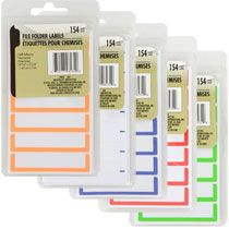 Bulk Color-Coded Blank File Folder Labels, 154-ct. Packs at DollarTree.com
