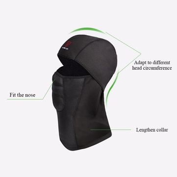 Mens Winter Warm Fleece Full Hood Face Mask Windproof Dustproof Head Cover Neck Waterproof Hat