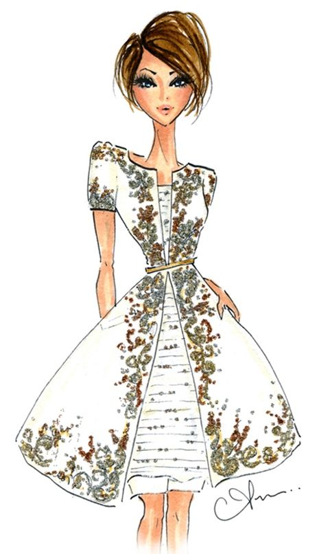 Anum Tariq Illustrations - Fall 2014 Couture - Chanel
