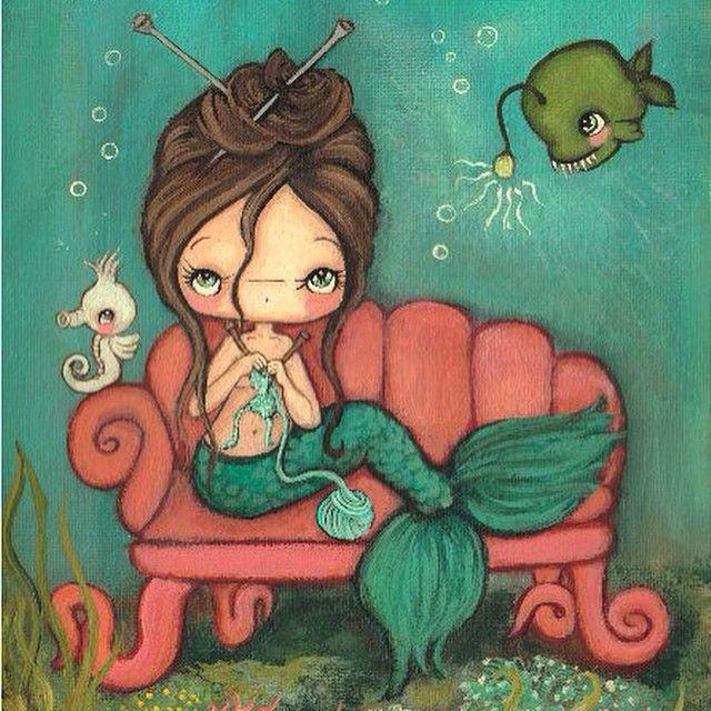 Knitting Mermaid