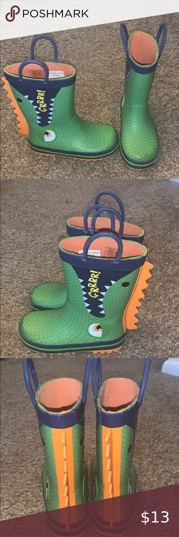 Toddler boy dinosaur rain boot in 2020 | Toddler rain ...