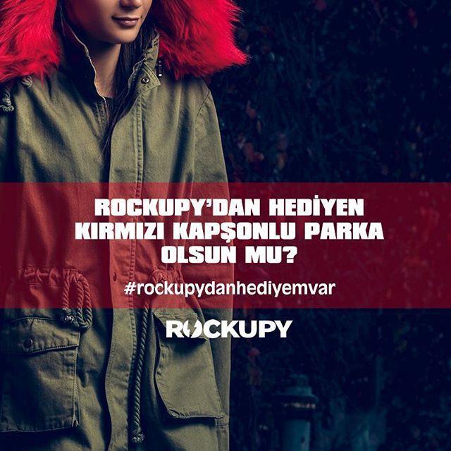 Instagram takipçilerimize beğendikleri Rockupy ürünü bizden hediye. İstediğin modeli instagram hesabında paylaş, en çok beğeniyi topla, hediyeni kazan. Detaylar goo.gl/x8YV3y adresinde. Bol şans \m/  #hediye #kampanya #rockupydanhediyemvar #rockfashion #rockstyle #rockupy