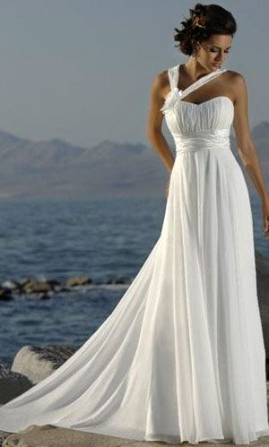 beach wedding dress -minus the stuff across the chest.